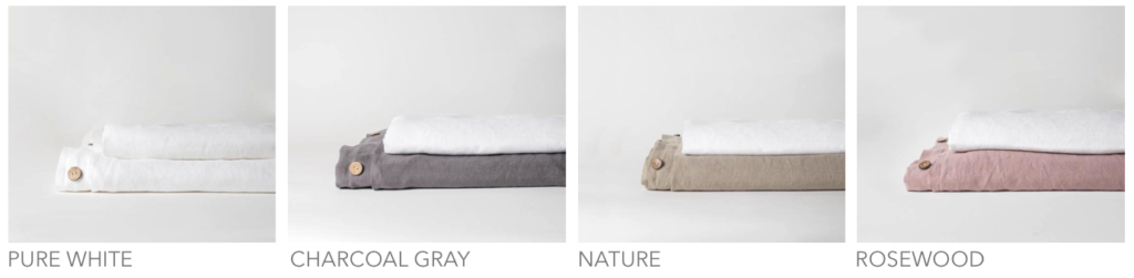 Primary bedding color options