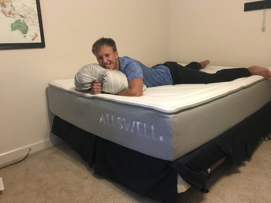 Peter on the Allswell mattress