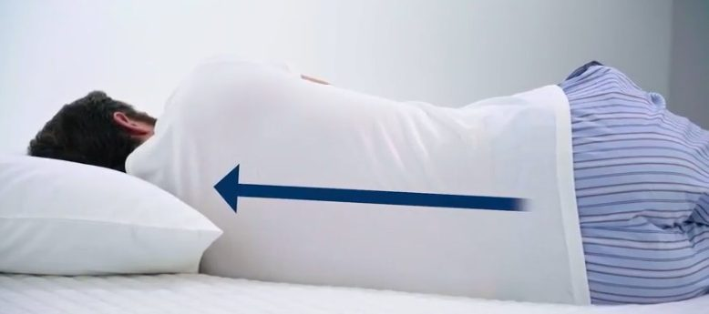 Mattress Advisor spine alignment test