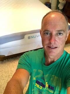 Todd with his new Nuvanna mattress