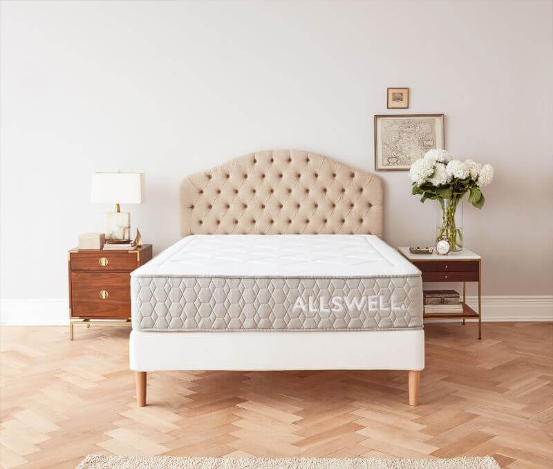 allswell firm mattress in a bedroom