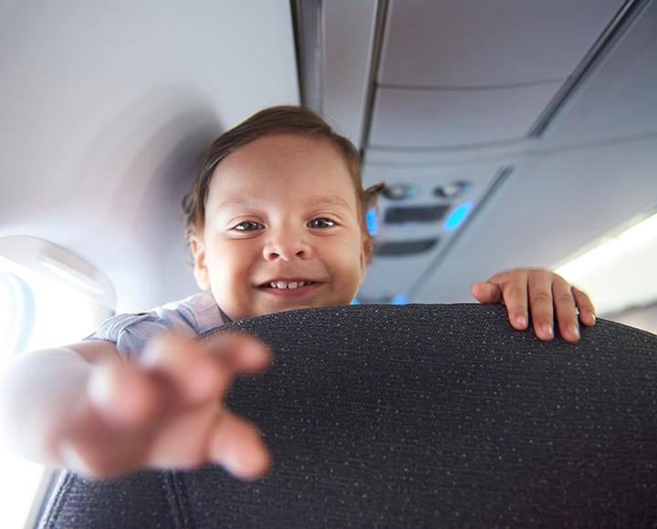 Annoying kid on a plane