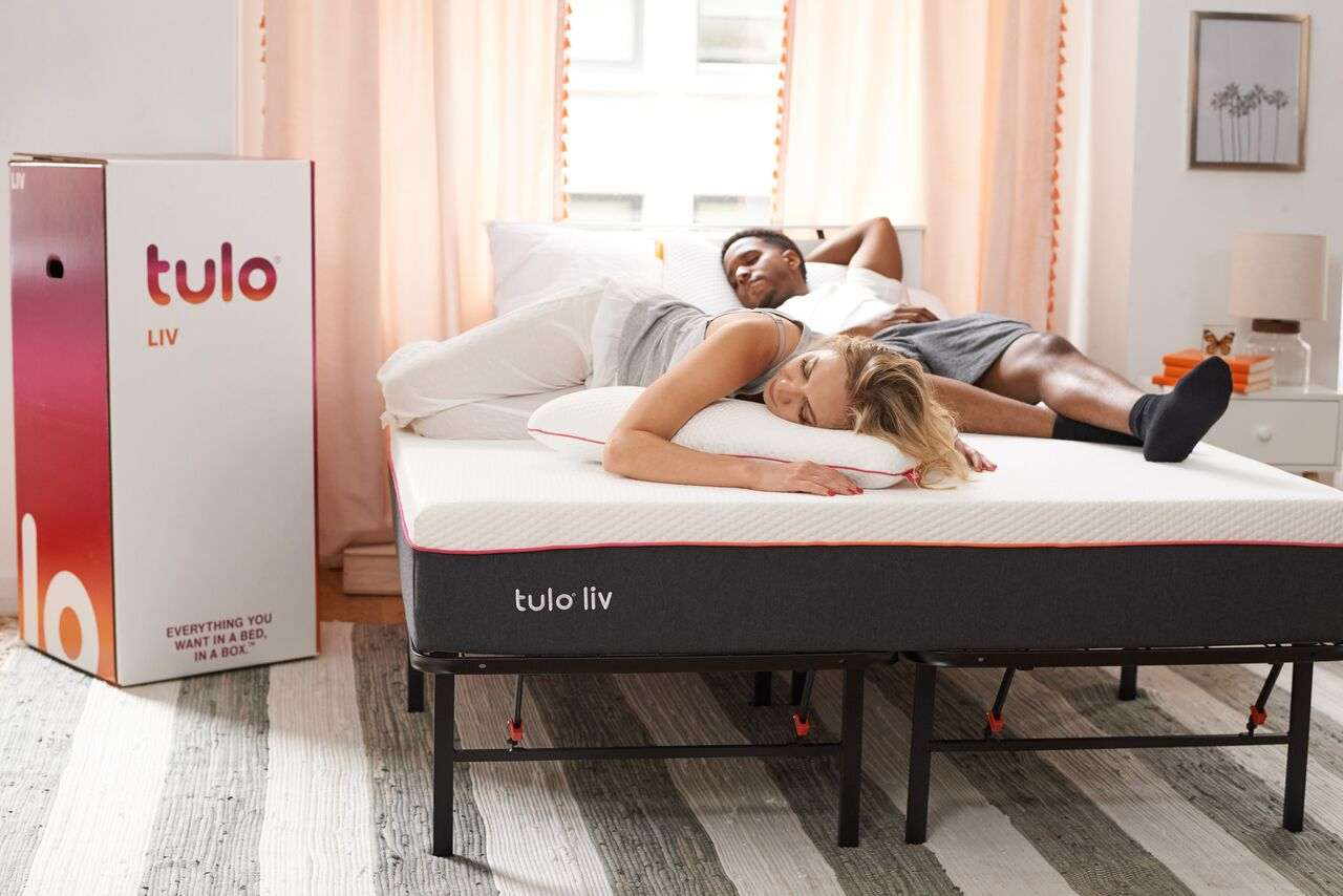 Couple on the Tulo LIV in bedroom
