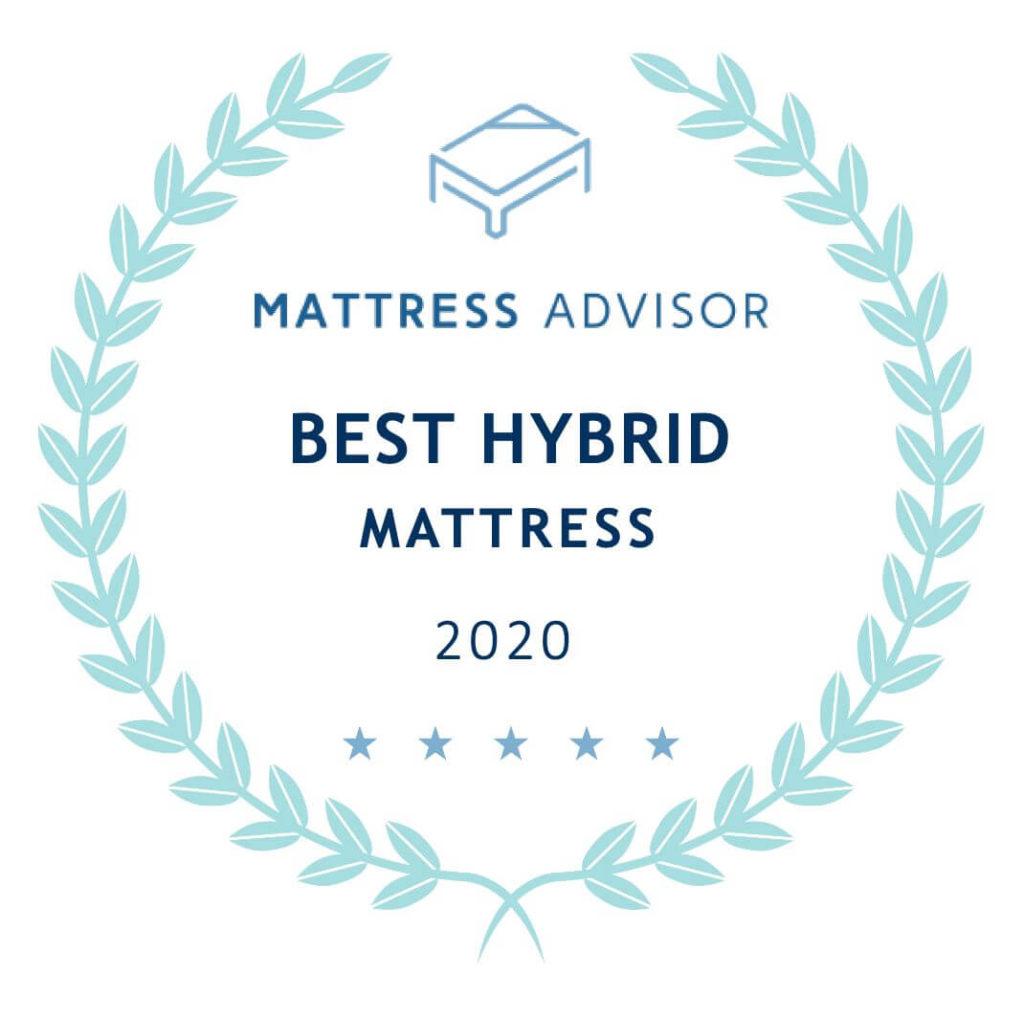 best hybrid mattress badge