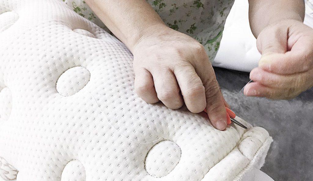 Saatva mattress being made by hand