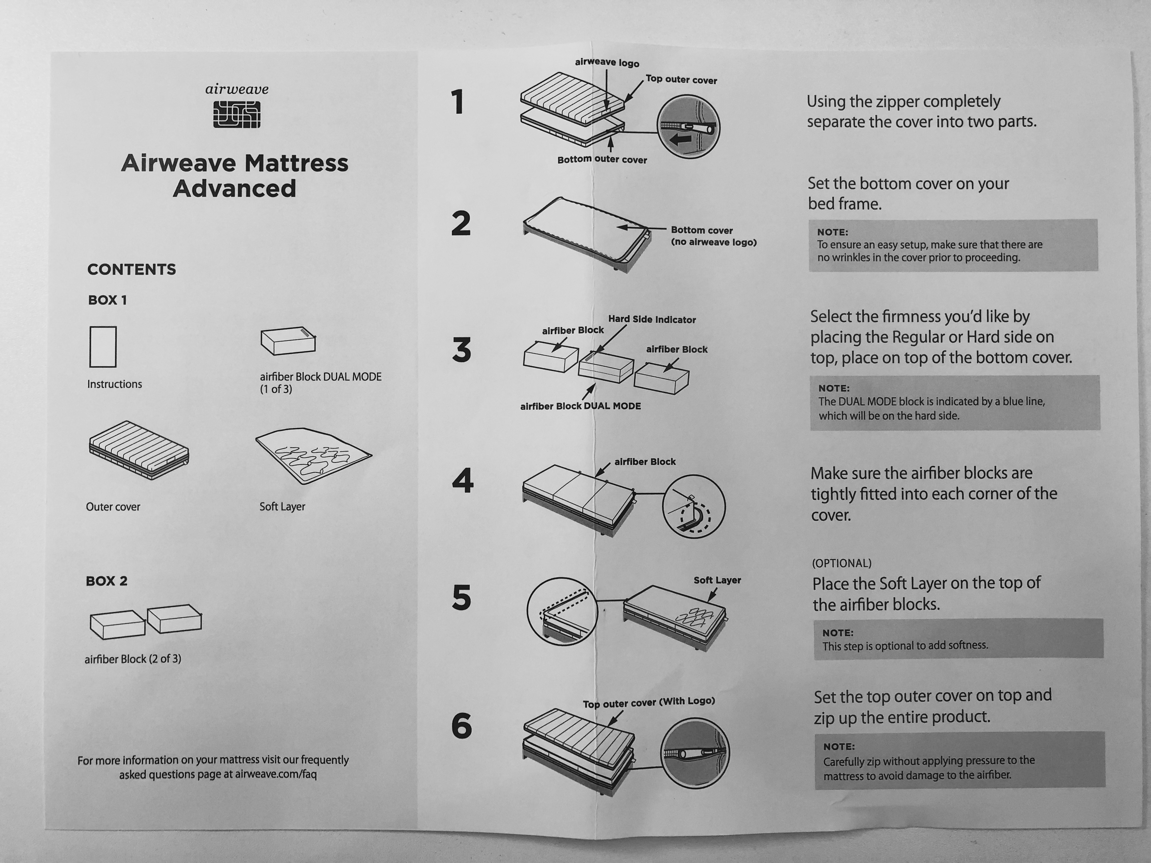 airweave assembly instructions