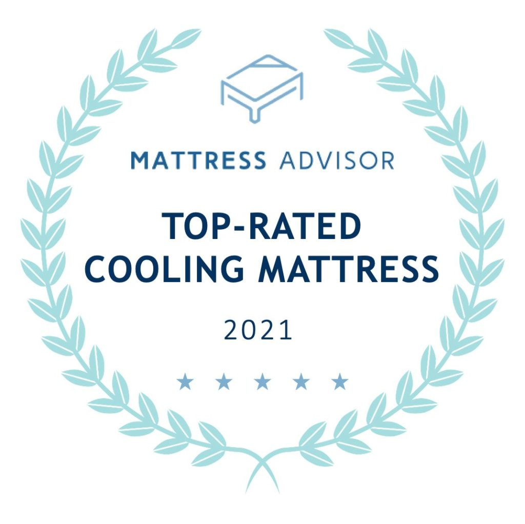 top rated cooling mattress badge