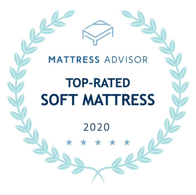 top rated soft mattress badge