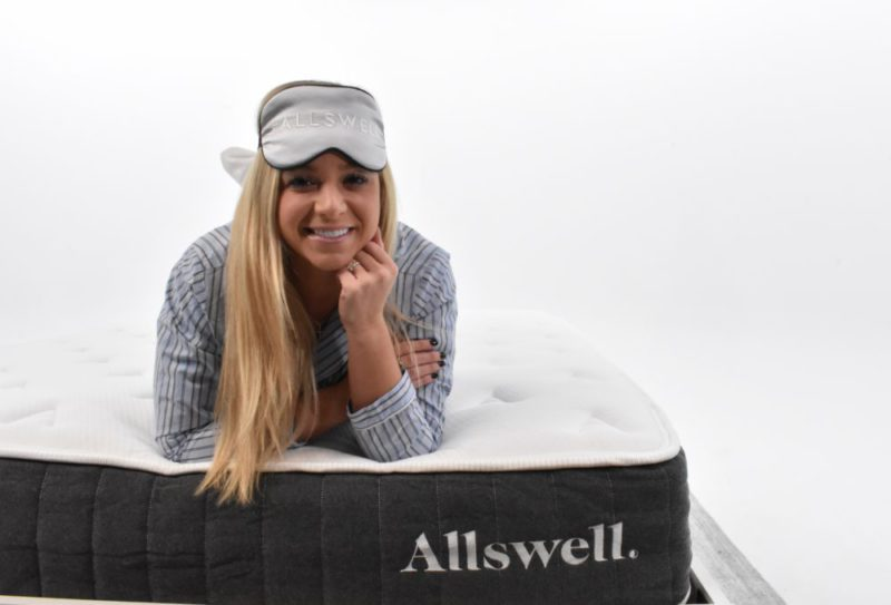 girl on an allswell mattress