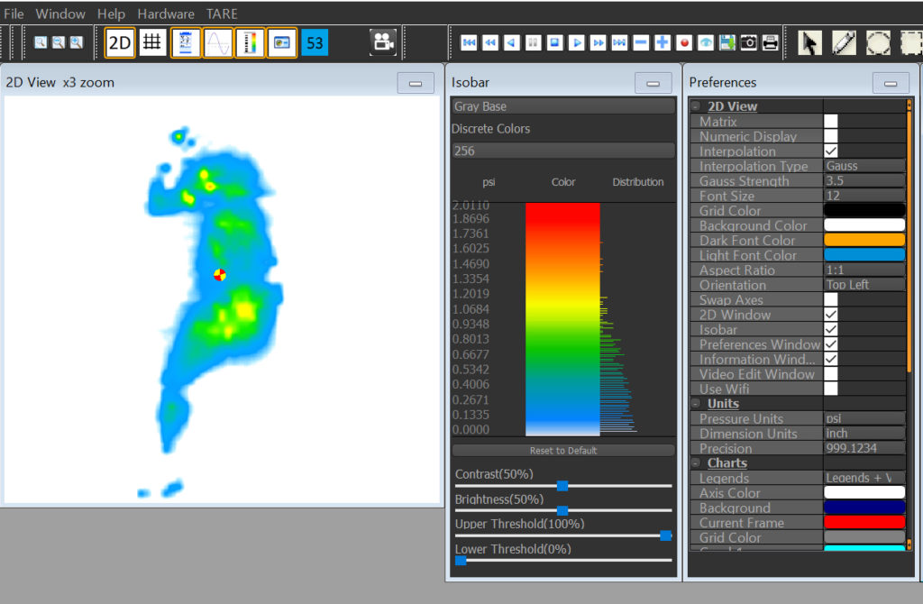 Sleep subject one's pressure mapping results.