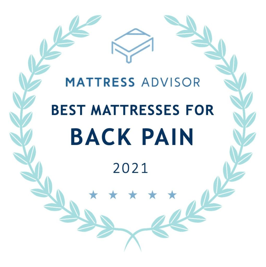 best mattresses for back pain badge