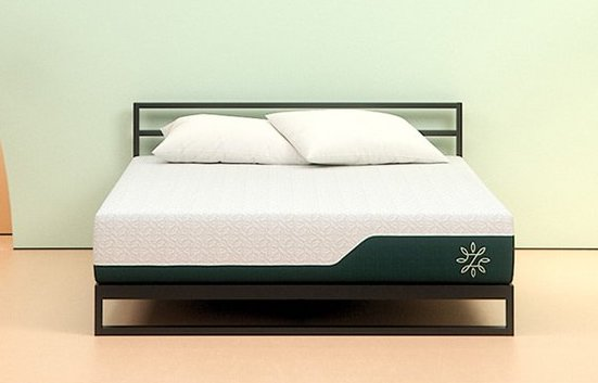 Zinus cooling gel memory foam mattress in a studio