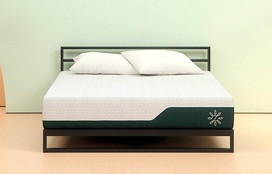 Zinus cooling gel memory foam mattress in a studio