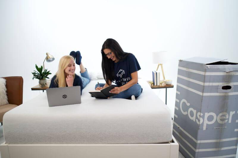 women on a Casper mattress
