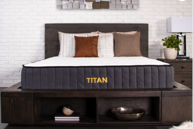 Titan mattress in bedroom