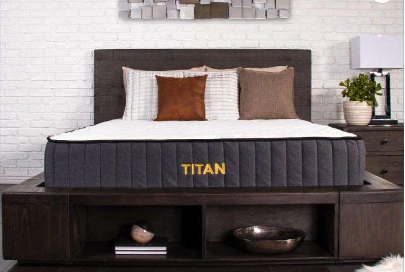 Titan mattress in bedroom