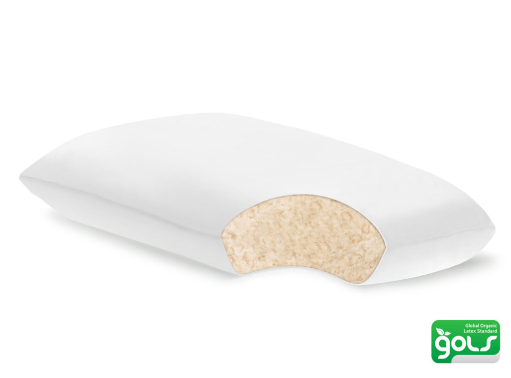 plushbeds organic shredded latex pillow