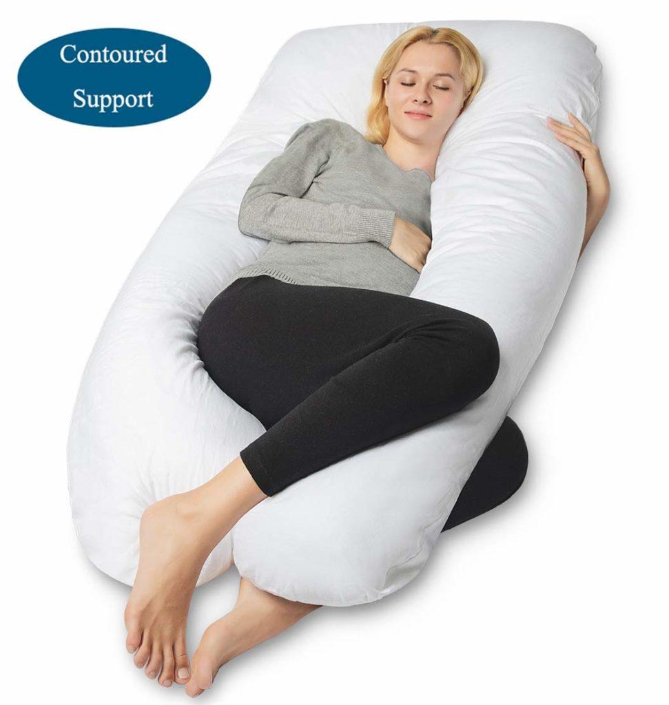 queen rose ushape pillow