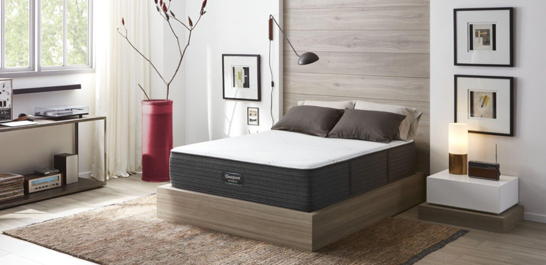 Beautyrest Hybrid mattress in a bedroom