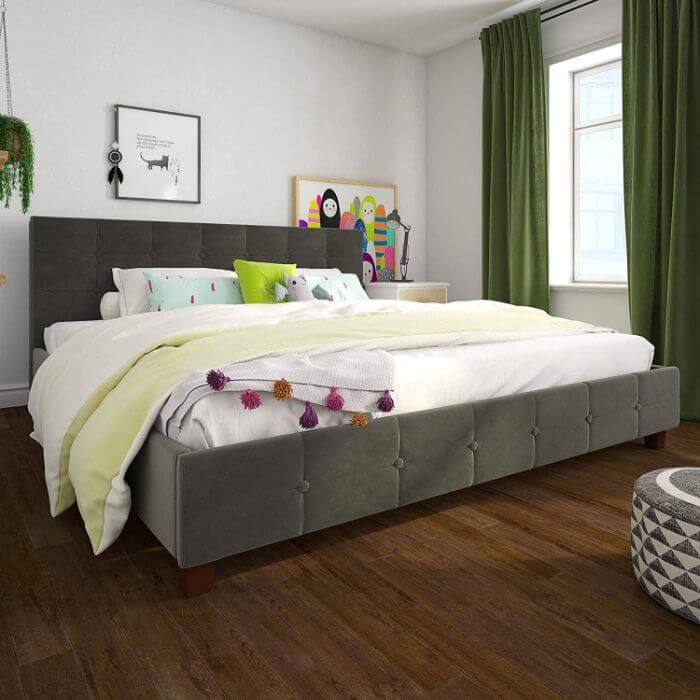 dhp tufted platform bed