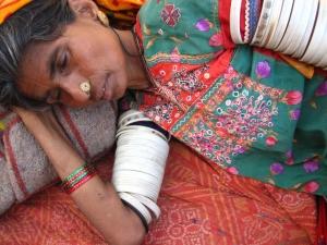 sleeping indian woman