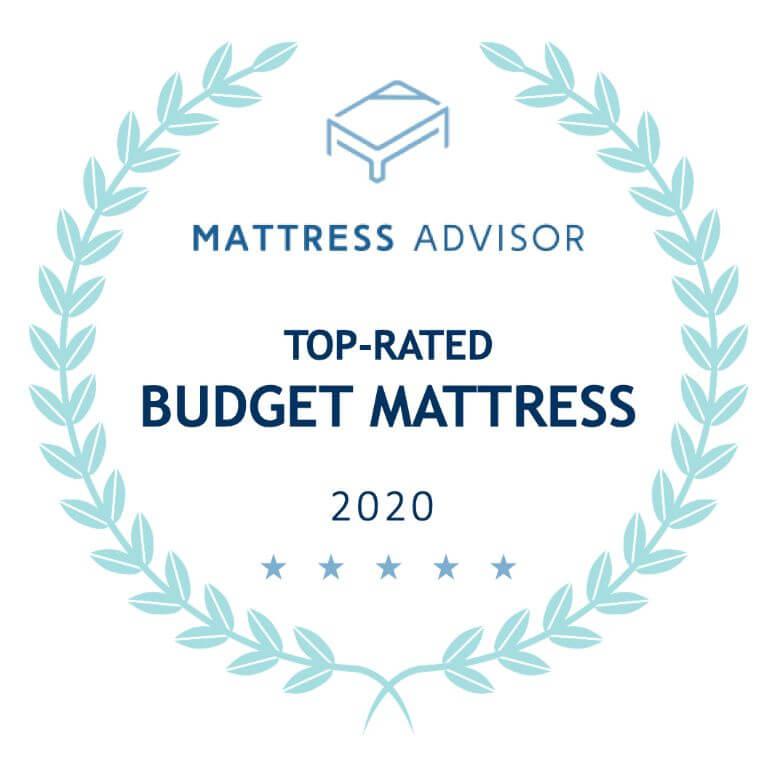 top budget mattress badge