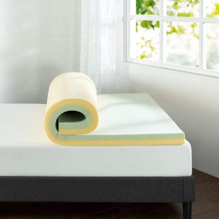 full mattress topper best green tea infused