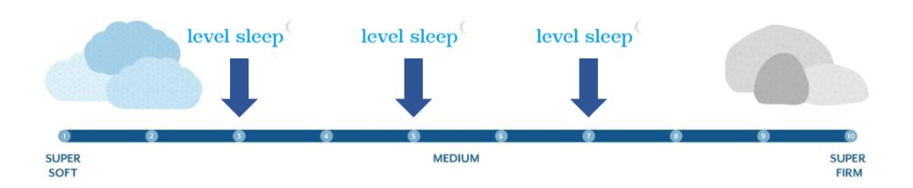level sleep firmness graphic