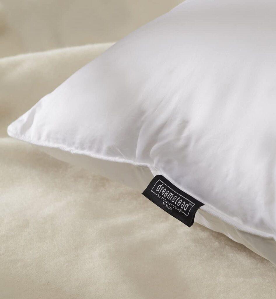 cuddledown pillow closeup
