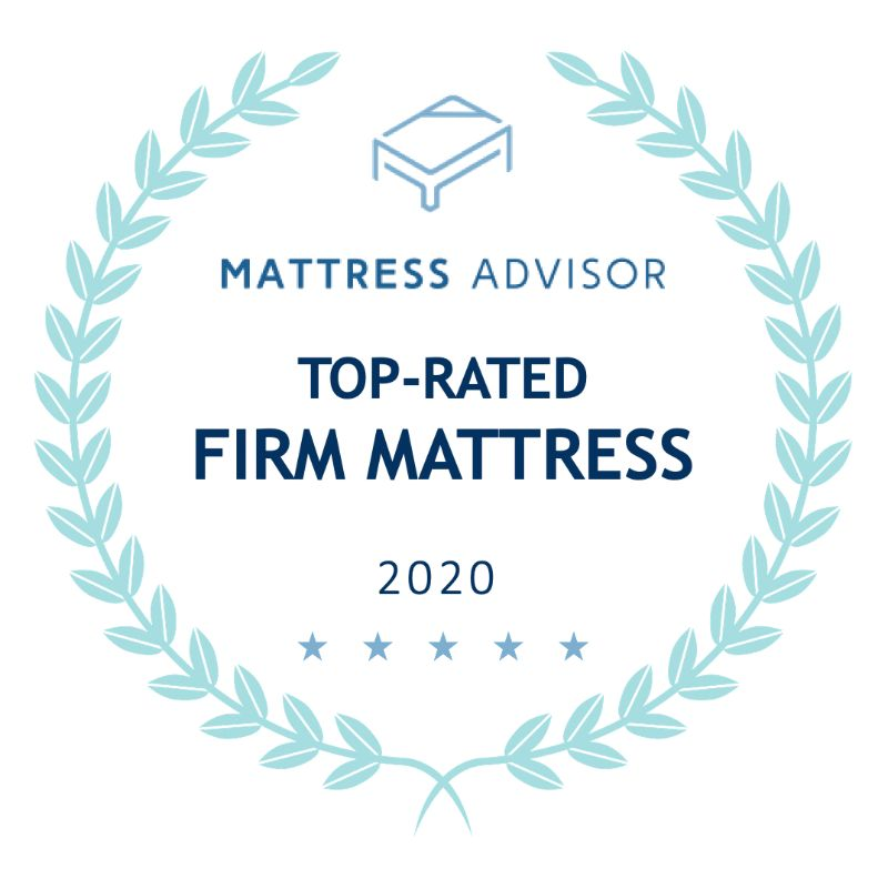 top rated firm mattress badge