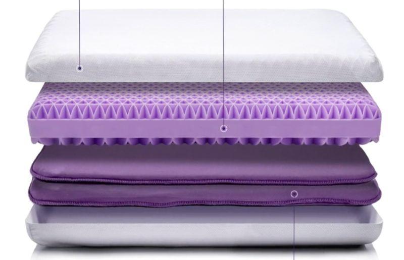inside purple pillow