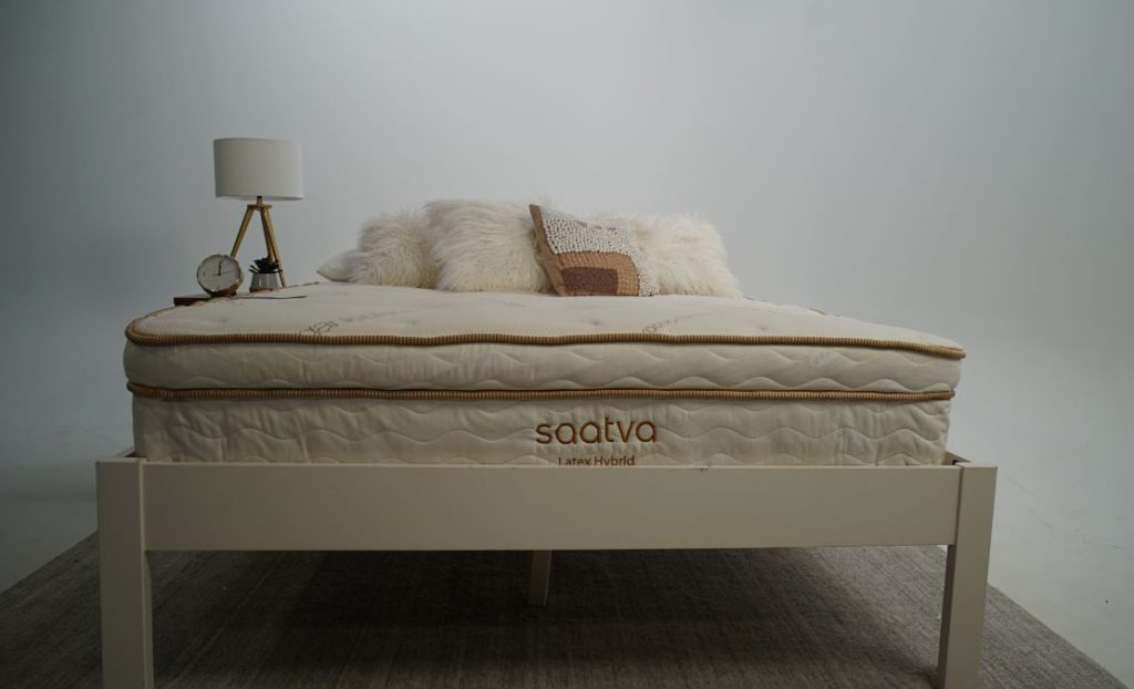 saatva latex hybrid lifestyle product