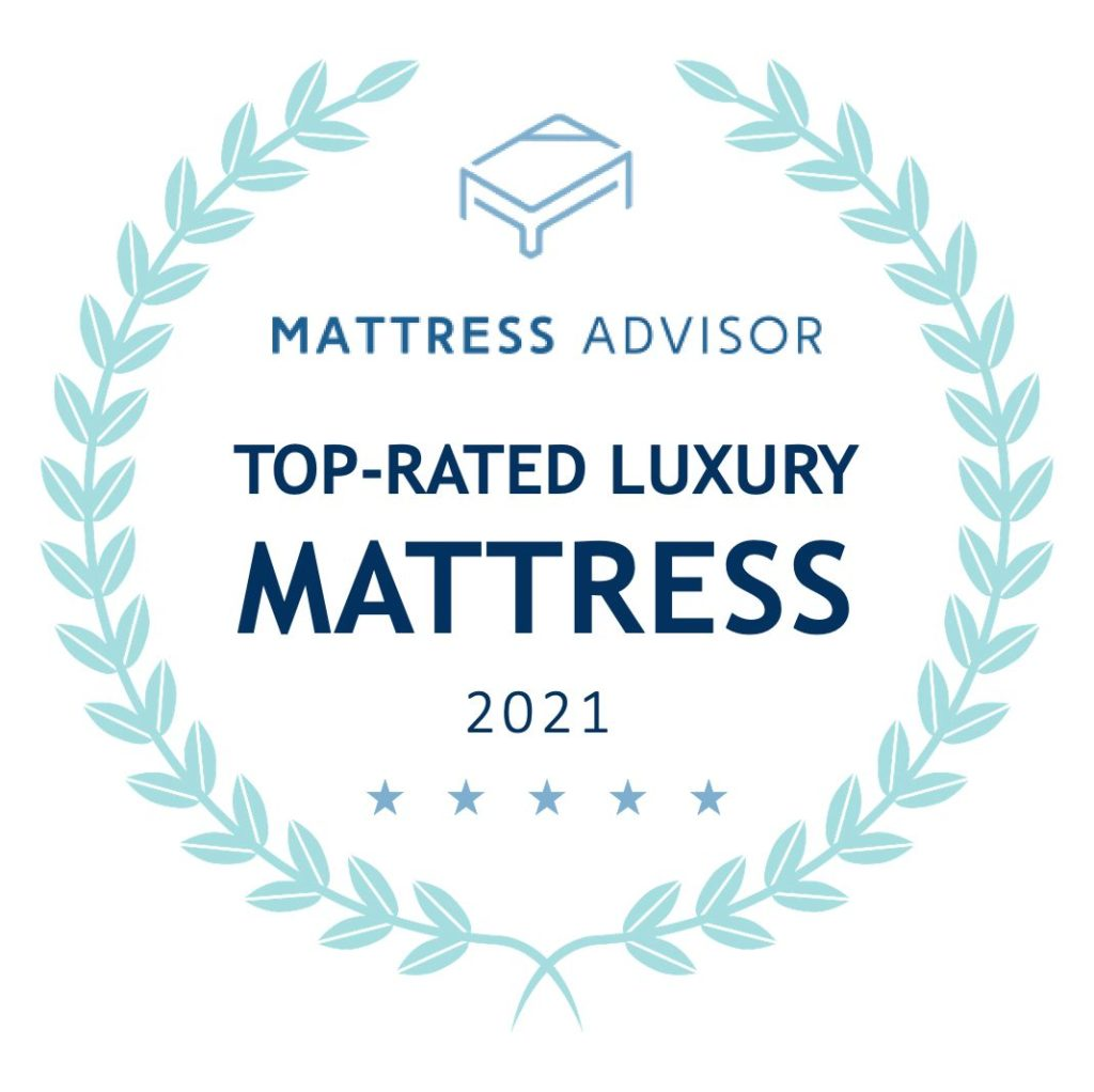 top rated luxury mattress badge